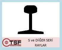 s tipi ray, s serisi ray demiri, ray demiri, trafo rayı, vinç rayı, konveryör rayı, ray seçim. TSF, s10, s 10, s20, s 20, s14, s 14, s30, s 30 ray, s49, s 49 ray